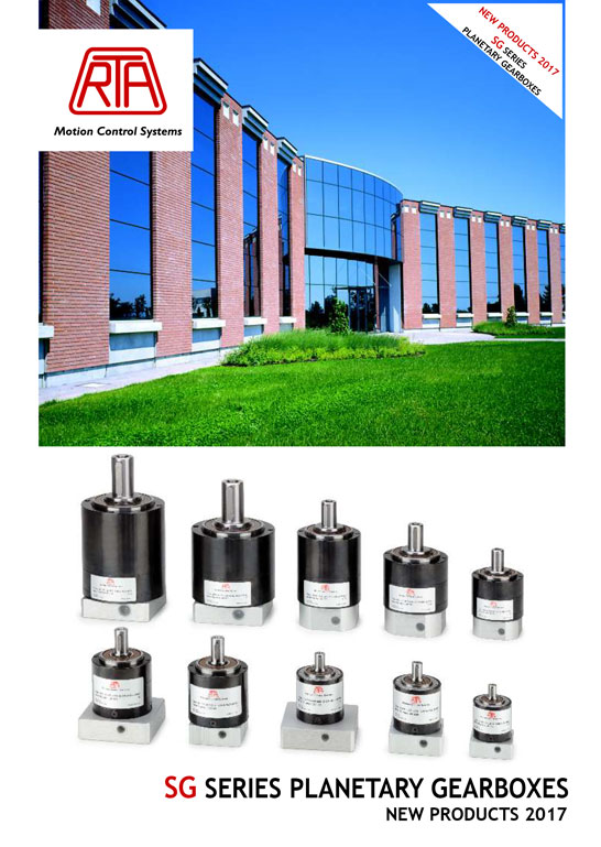 RTA SG Series Planetary Gearboxes