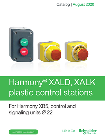 Kaman Automation Schneider Harmony XALD and XALK plastic control stations thumb Products