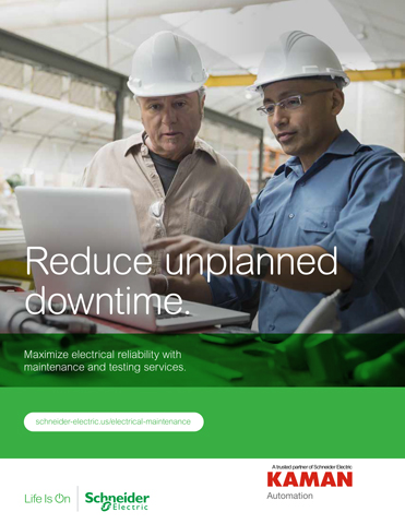 Kaman Automation kdp schneider reduce unplanned downtime thumb